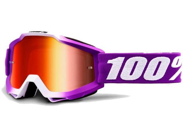 100% Accuri Anti Fog Mirror Goggles Kinder framboise
